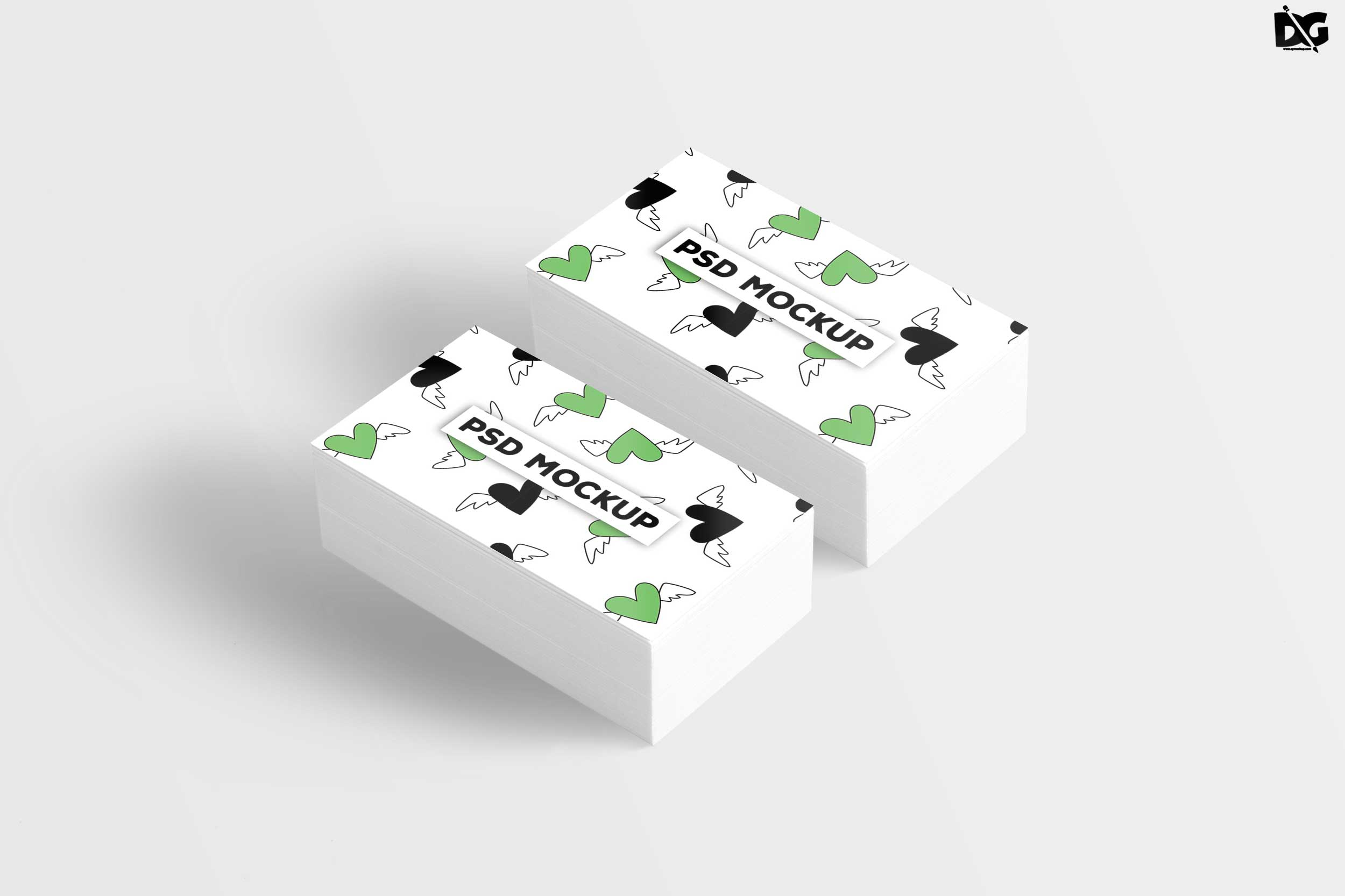 Free White Clean Business Card Mockup